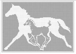 Filet Crochet Curtain Pattern