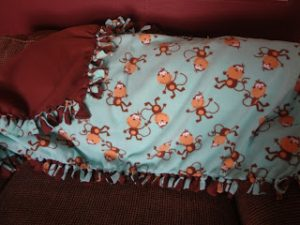 Fleece Tie Baby Blanket