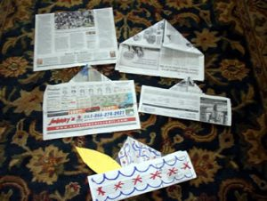 Folding Newspaper Hats