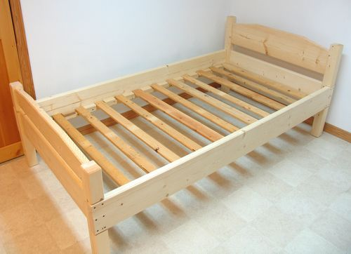 full size wooden bed frame - Wooden Twin Bed Frame