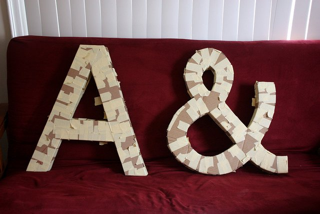 giant cardboard letters