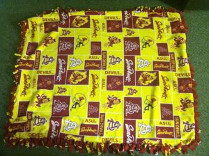 Hand Tied Fleece Blanket