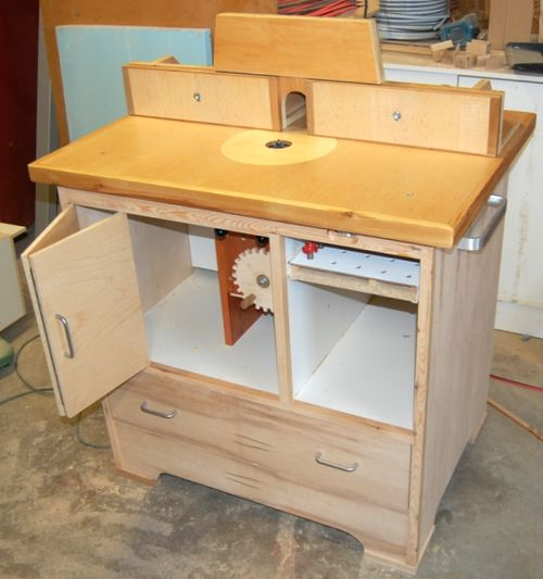 Image gallery homemade router table for How to make a router table stand