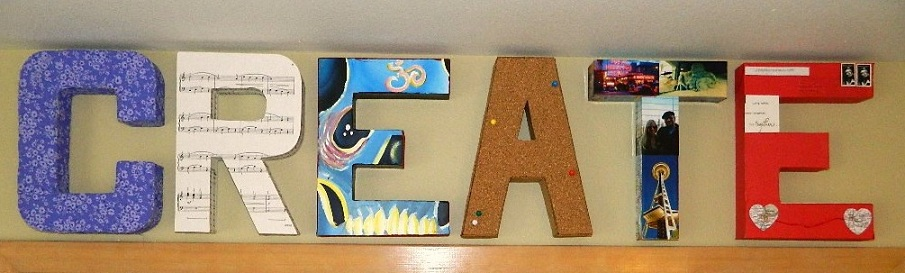 how to decorate cardboard letters