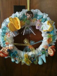 How to Make Baby Door Diaper Wreath