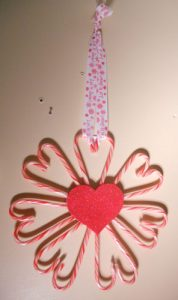 How to Make Candy Cane Wreath