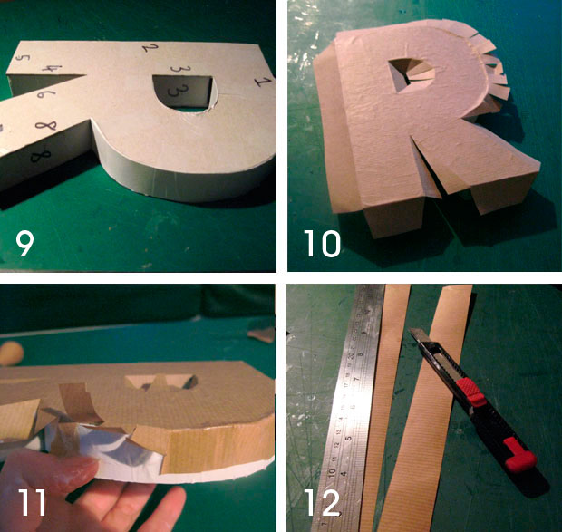 How To Make Big D Letters Out Of Cardboard