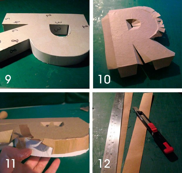 How To Make Large D Cardboard Letters