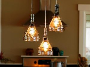 How to Make Wine Bottle Chandelier