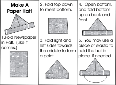 Instructions How To Make A Paper Pirate Hat