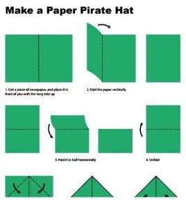 How to Make a Paper Hat Out of Newspaper