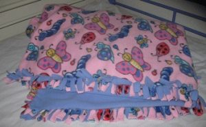 How to Make a Tie Fleece Blanket