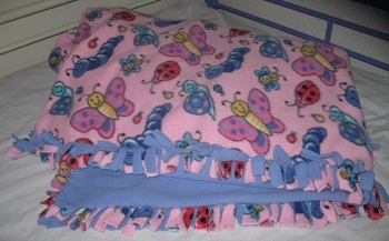 how to make a tie knot blanket