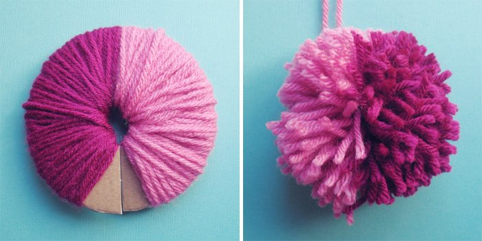 9a92977d0dc How to Make Yarn Pom Poms   23 DIYs