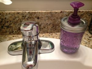 Mason Jar Soap Dispenser Idea