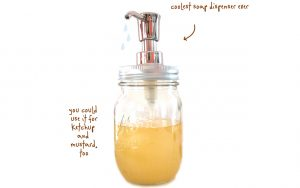 Mason Jar Soap Dispenser Instructions