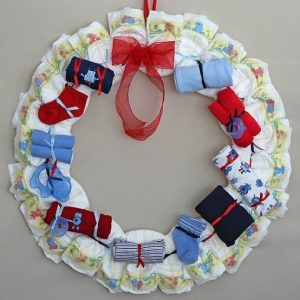 Nautical Diaper Wreath