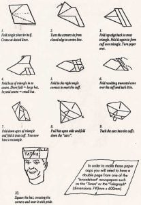 Newspaper Hat Directions