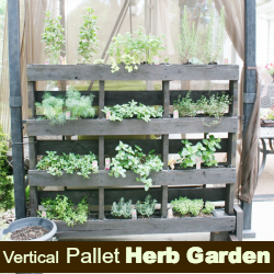 25 easy diy plans and ideas for making a wood pallet for Wood pallet herb garden
