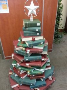 Picture of a Book Christmas Tree