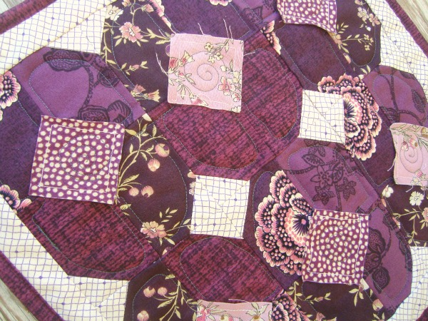cabin quilts log squares pattern purple quilt quilting