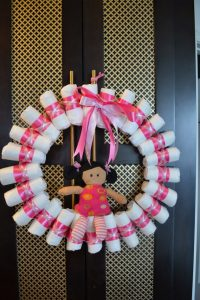 Rolled Diaper Wreath