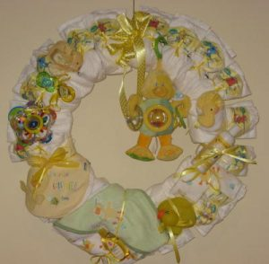 Rolled Diaper Wreath Tutorial