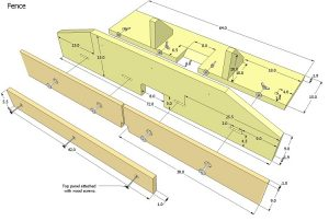 Router Table Fence Plan