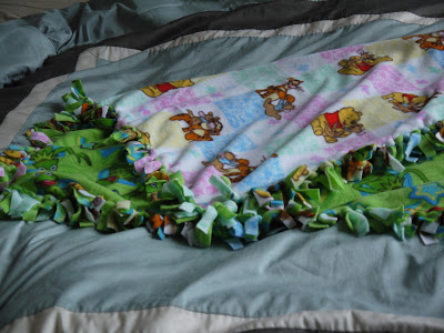 how to make a fleece blanket without ties