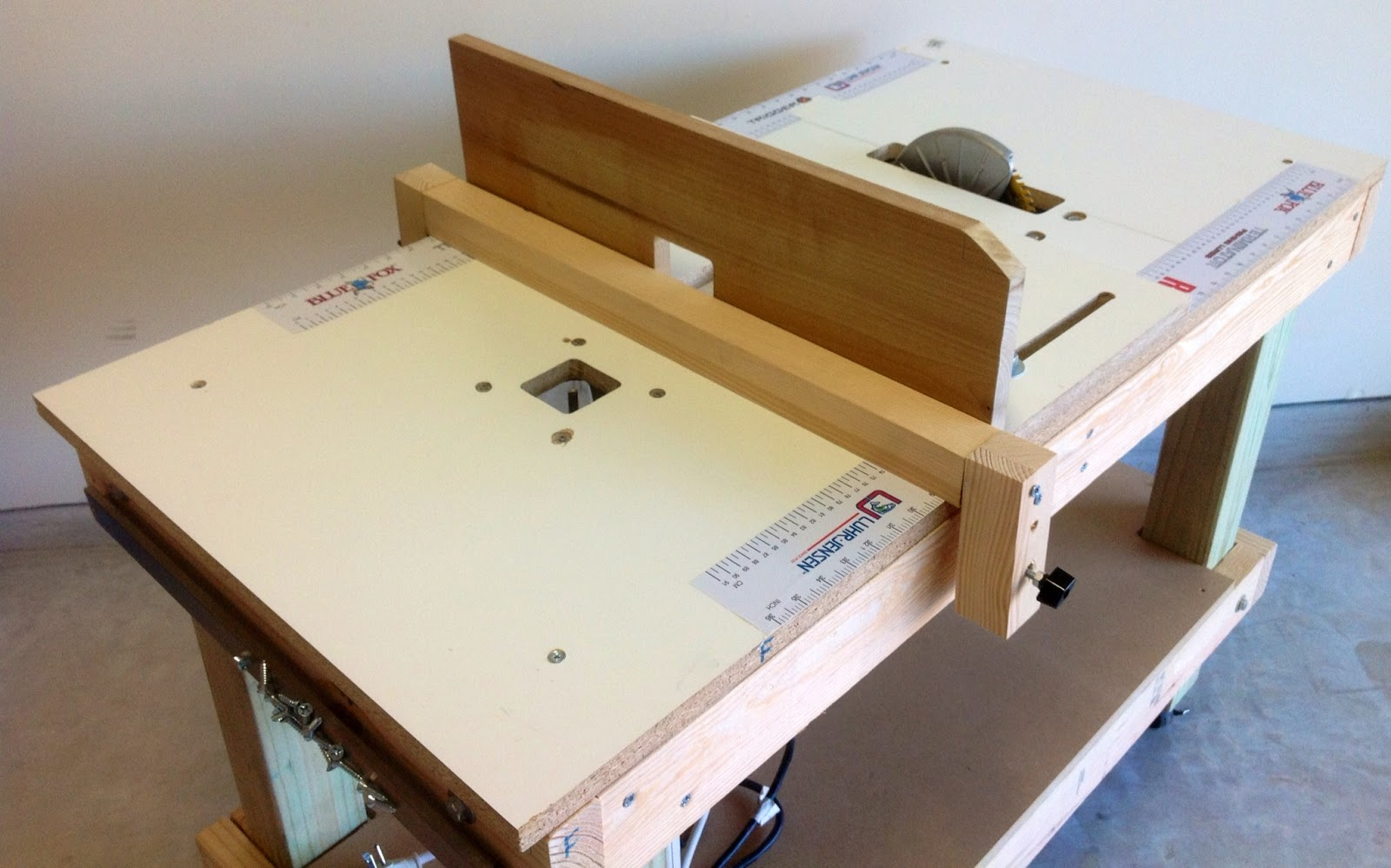 Table Saw Router Table Extension
