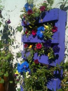 Vertical Flower Pallet Planter
