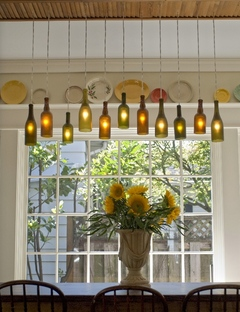Chandelier Made From Wine Bottles: Wine Bottle Chandelier DIY,Lighting