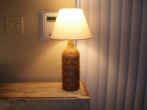Wine Bottle Lamp DIY