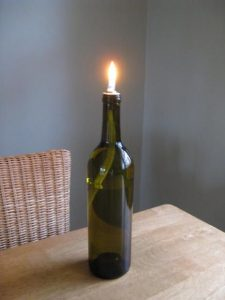 Wine Bottle Oil Lamp
