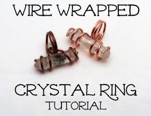 Wire Wrapped Ring with Crystal