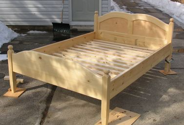 wooden bed frame - Wood Frame Bed