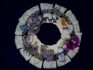 Zebra Diaper Wreath