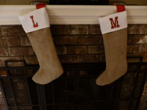 Burlap Christmas Stocking Ideas