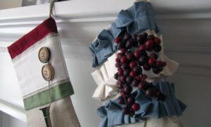 Burlap Christmas Stocking Pattern