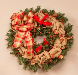 how to make a christmas wreath with burlap
