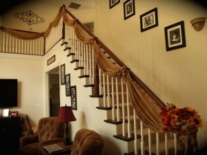 Burlap Garland for Stairs