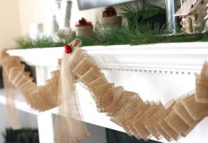 Burlap Garland with Bells
