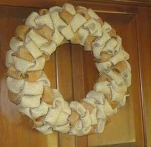Burlap Wreath Idea