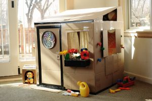 Cardboard Box Playhouse