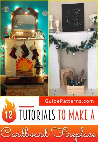 12 tutorials to make a cardboard fireplace guide patterns cardboard fireplace diy solutioingenieria Gallery