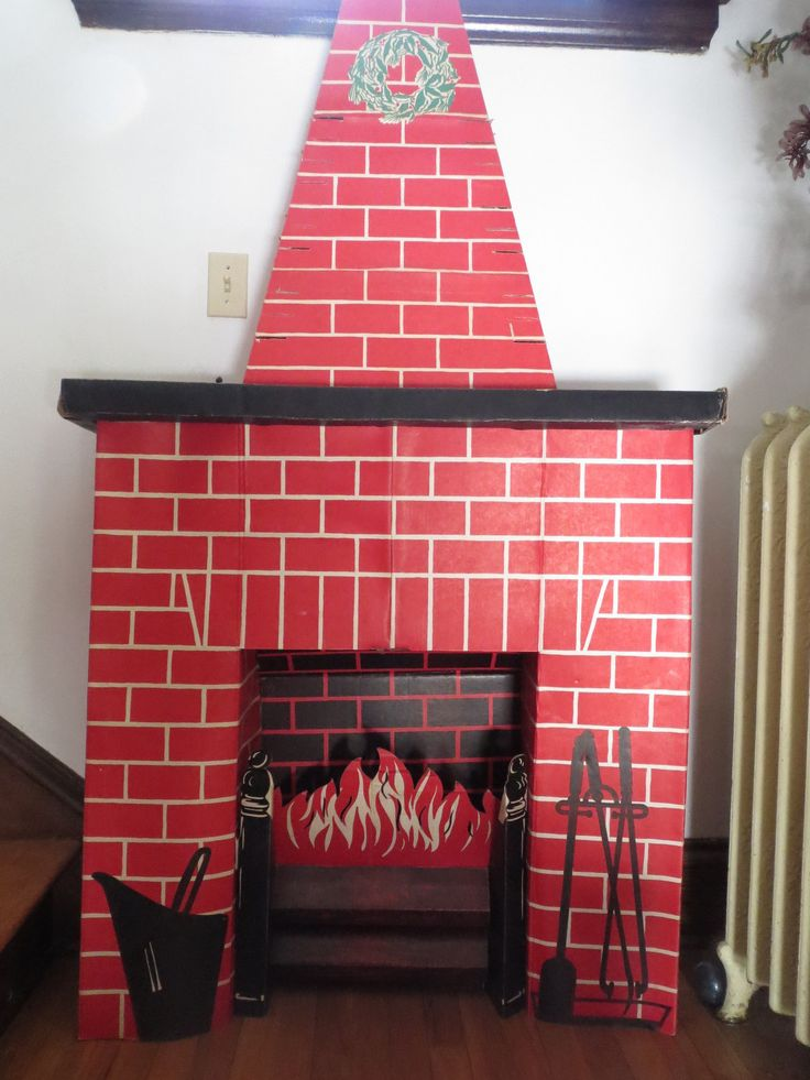 12 tutorials to make a cardboard fireplace guide patterns cardboard fireplace with chimney cardboard fireplace with chimney diy box christmas fireplace solutioingenieria
