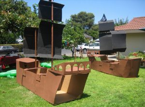 Cardboard Pirate Ship Playhouses