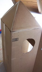 Cardboard Rocket Playhouse