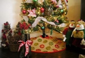 Christmas Tree Skirt Burlap
