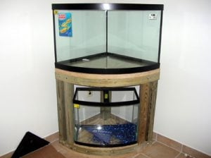 Corner Aquarium with Stand